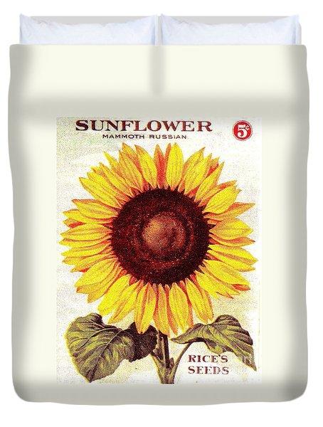 Antique Sunflower Seeds Pack Duvet Cover by Peter Gumaer Ogden