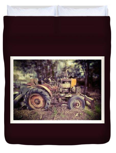 Antique Tractor Home Built Duvet Cover