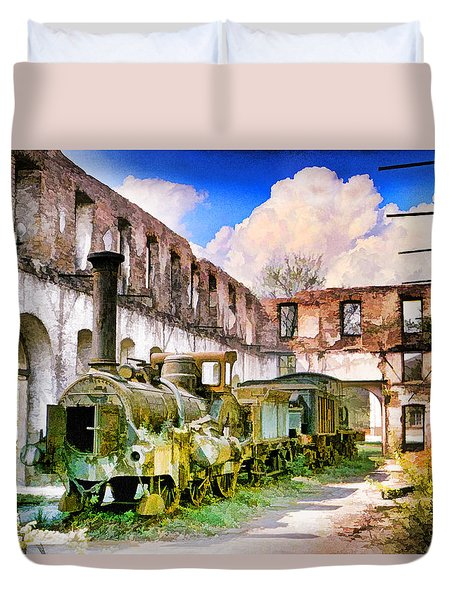 Antique Train Duvet Cover by Chuck Staley