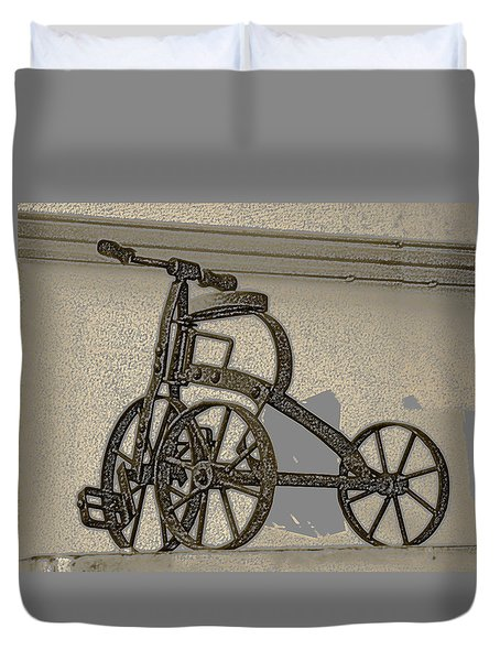 Antique Tricycle  Duvet Cover