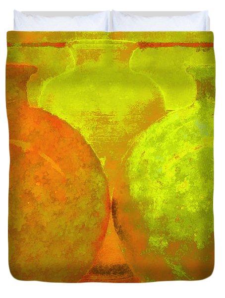 Antique Vases Duvet Cover
