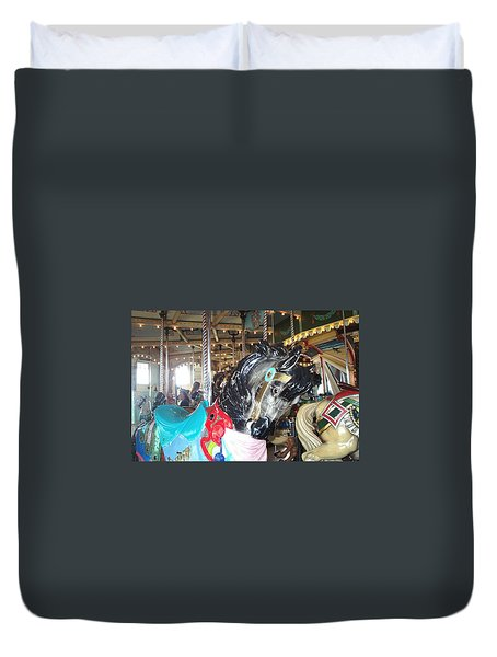 Duvet Cover featuring the photograph Antique Waiting by Barbara McDevitt