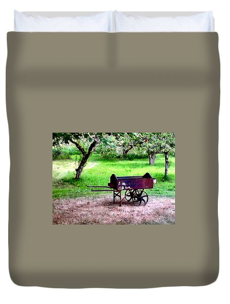 Antique Wheelbarrow Duvet Cover by Sadie Reneau