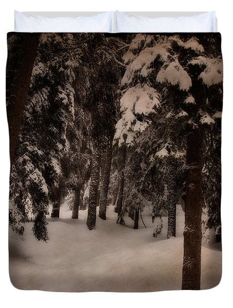 Antique Woodscape Duvet Cover