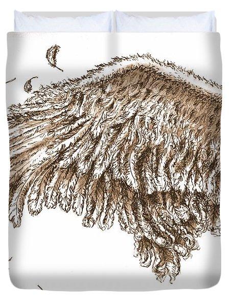 Antiqued Wing Duvet Cover by Adam Zebediah Joseph