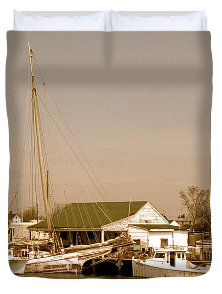Antiques At Deal Island Duvet Cover