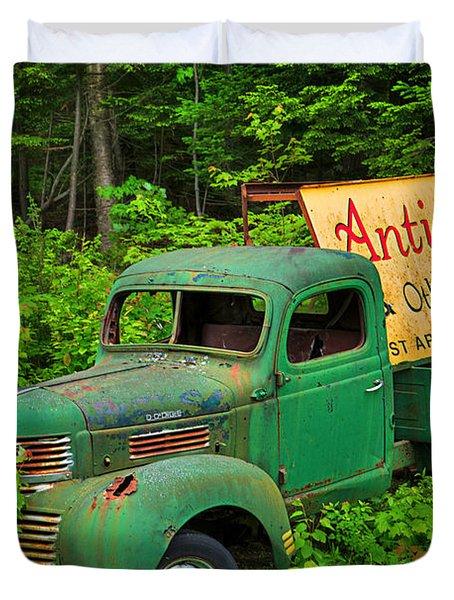 Antiques Just Around The Corner Duvet Cover