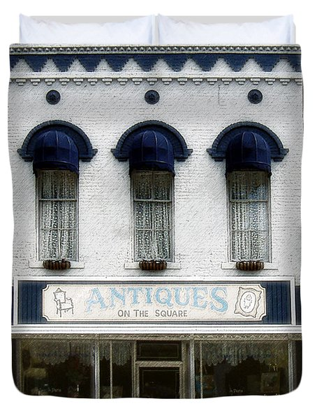 Antiques On The Square Duvet Cover