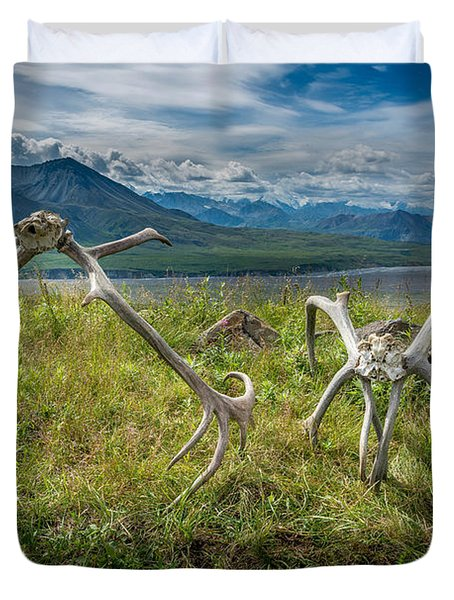 Antlers On The Hill Duvet Cover