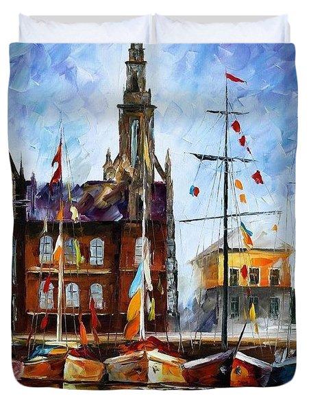 Antwerp - Belgium Duvet Cover by Leonid Afremov