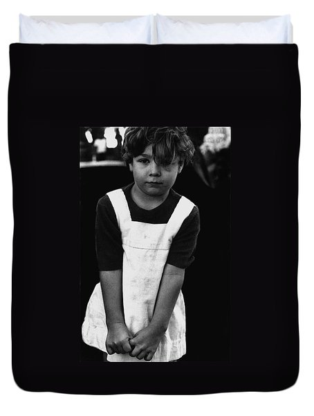 Anxious Child El Rio Neighborhood Park Tucson Arizona 1970 Duvet Cover