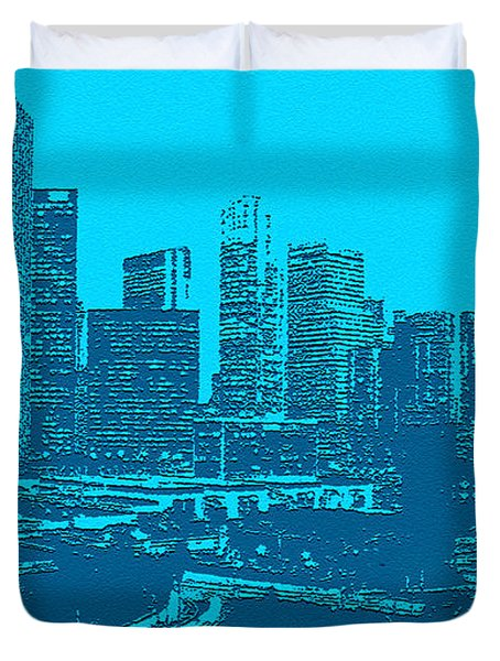 Anywhere Usa In Relief Duvet Cover by Bob and Nadine Johnston