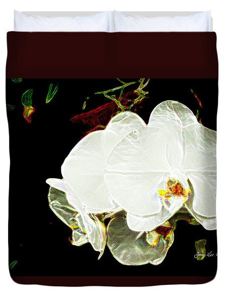 Aos White Orchid 1 Duvet Cover