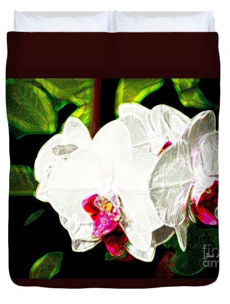 Aos White Orchid 2 Duvet Cover