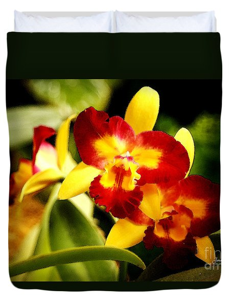 Aos Yellow Orchid 2 Duvet Cover