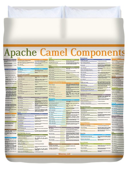 Apache Camel 2.12.2 Components Poster Duvet Cover by Robert Liguori