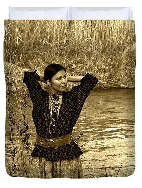 Apache River Maiden Duvet Cover