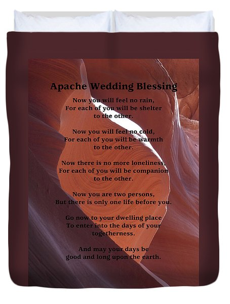 Apache Wedding Blessing On Canyon Photo Duvet Cover