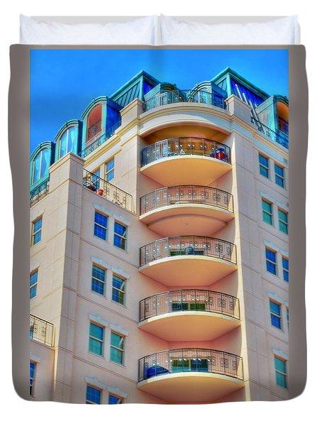 Apartment Building Duvet Cover by Kathleen Struckle