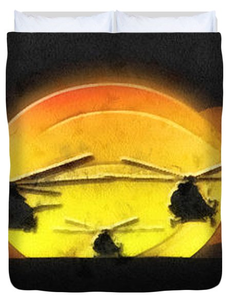 Apocalypse Now Duvet Cover by Mo T