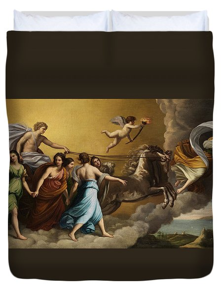 Apollo And The Muses Duvet Cover