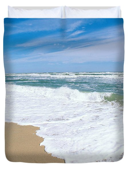 Apollo Beach Duvet Cover by Millard H. Sharp