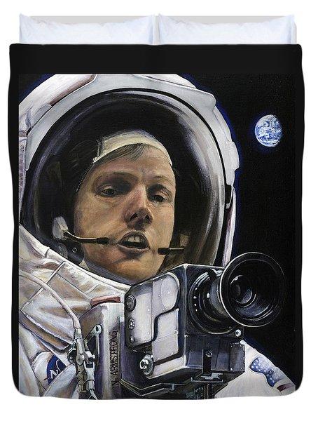 Apollo- For Mankind Duvet Cover by Simon Kregar