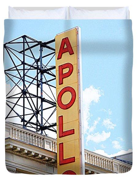Apollo Theater Sign Duvet Cover by Valentino Visentini