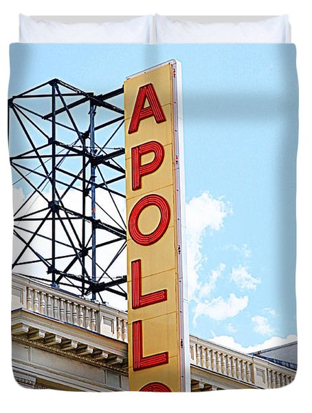 Apollo Theater Sign Duvet Cover