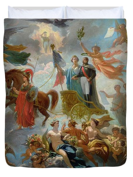 Apotheosis Of Napoleon IIi Duvet Cover by Guillaume-Alphonse Harang Cabasson