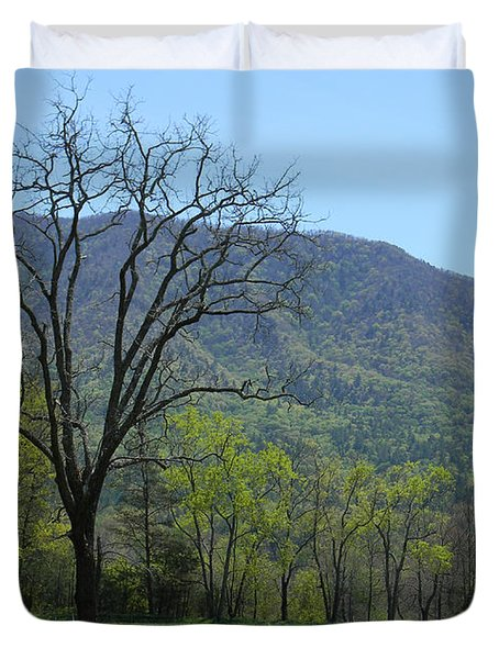 Appalachian Pathway Duvet Cover by Mark Minier