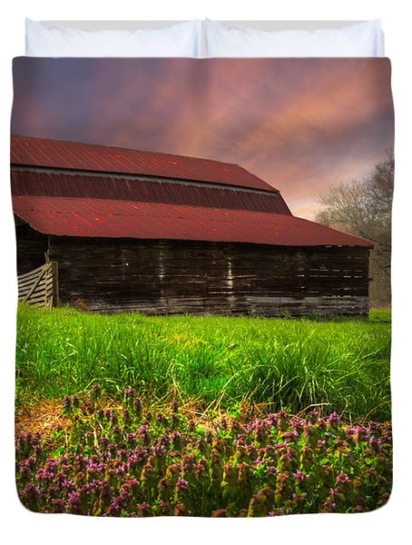 Appalachian Spring Duvet Cover by Debra and Dave Vanderlaan