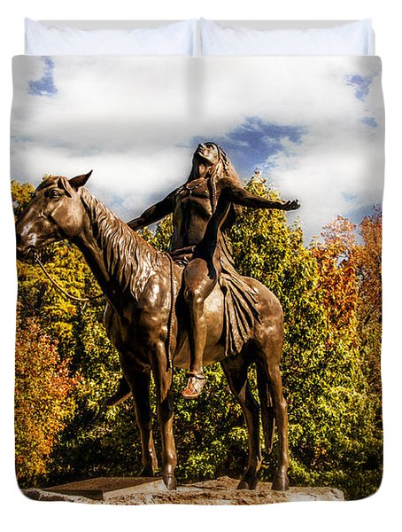 Appeal To The Great Spirit Duvet Cover by Tamyra Ayles