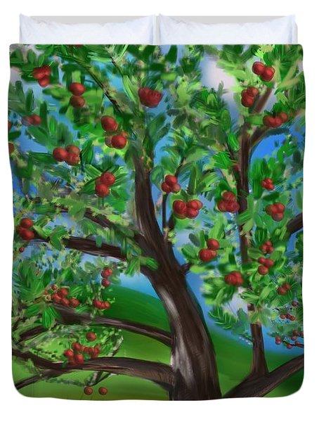 Apple Acres Duvet Cover by Christine Fournier