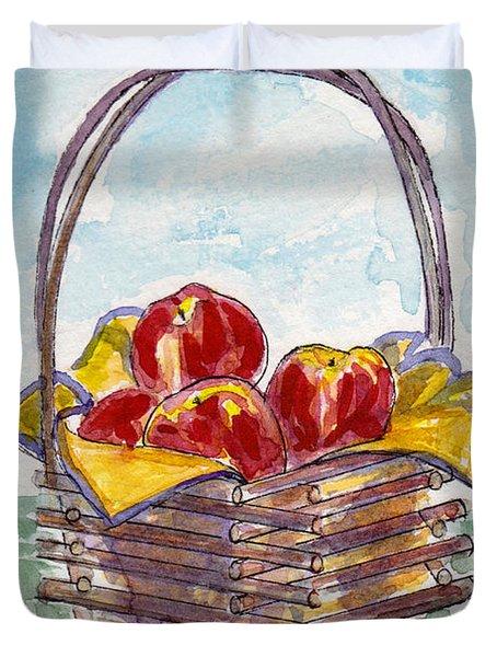 Apple Basket Duvet Cover by Julie Maas