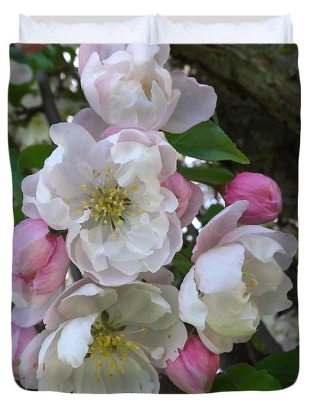 Apple Blossom Bouquet Duvet Cover
