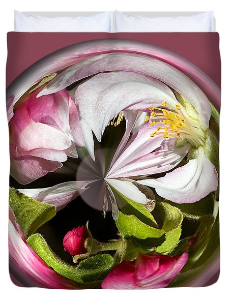 Apple Blossom Globe Duvet Cover