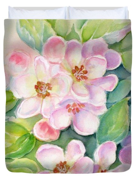 Apple Blossoms 1 Duvet Cover