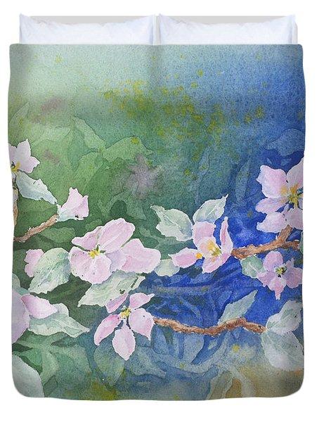 Apple Blossoms 2 Duvet Cover