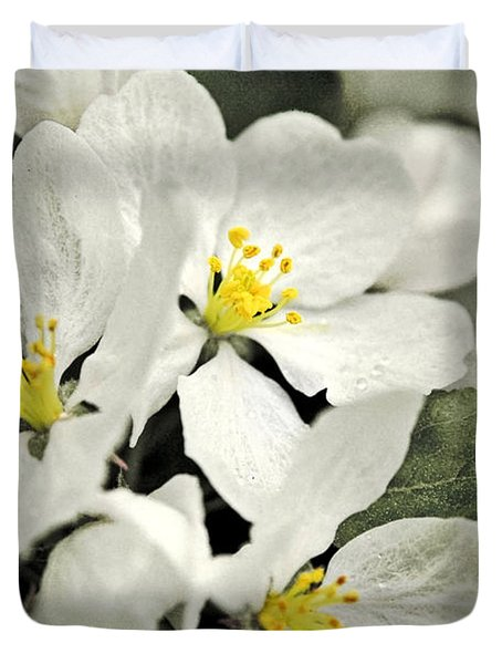 Duvet Cover featuring the photograph Apple Blossoms by Alana Ranney
