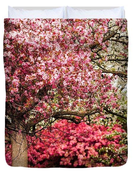 Apple Blossoms Duvet Cover by Joe Mamer