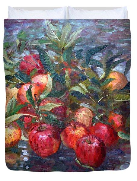 Apple Harvest At Violas Garden Duvet Cover
