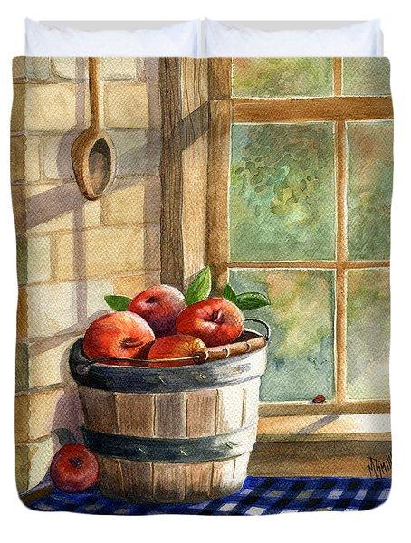 Apple Harvest Duvet Cover by Marilyn Smith