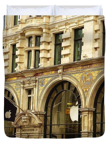 Apple On Regent Street Duvet Cover