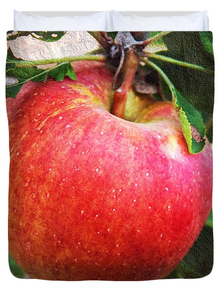 Apple On The Tree Duvet Cover by Andee Design