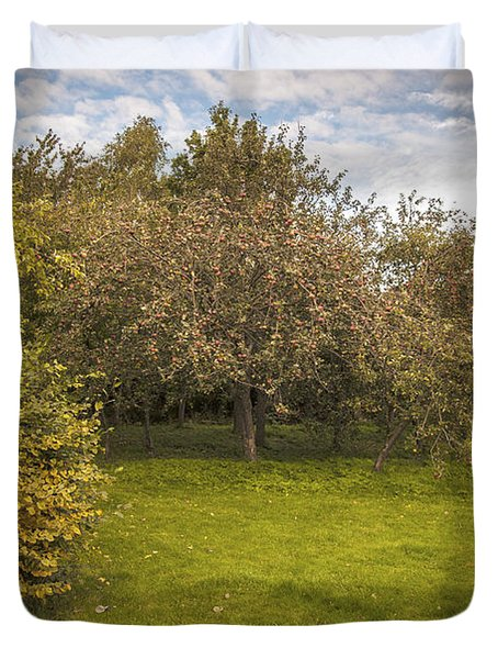 Apple Orchard Duvet Cover by Amanda Elwell
