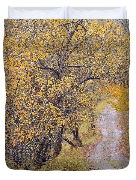 Apple Orchard Road Duvet Cover by Alan L Graham