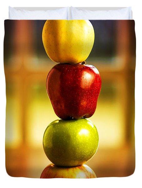 Apple Stack Duvet Cover