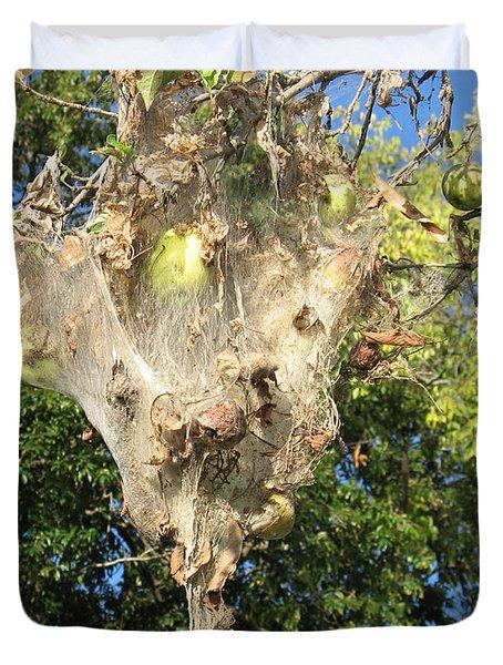 Apple Trap Duvet Cover by Carol Lynn Coronios