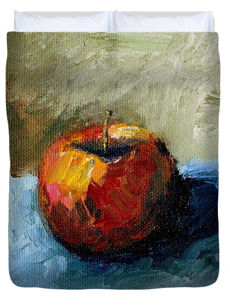 Apple With Olive And Grey Duvet Cover